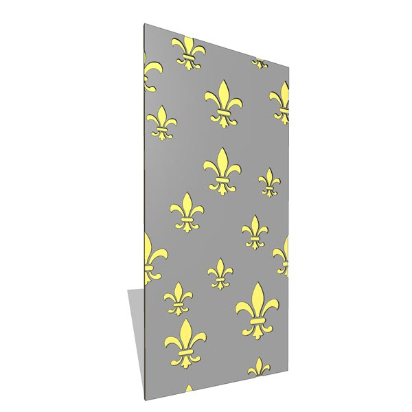 B&N Industries Fleur Wall Panel