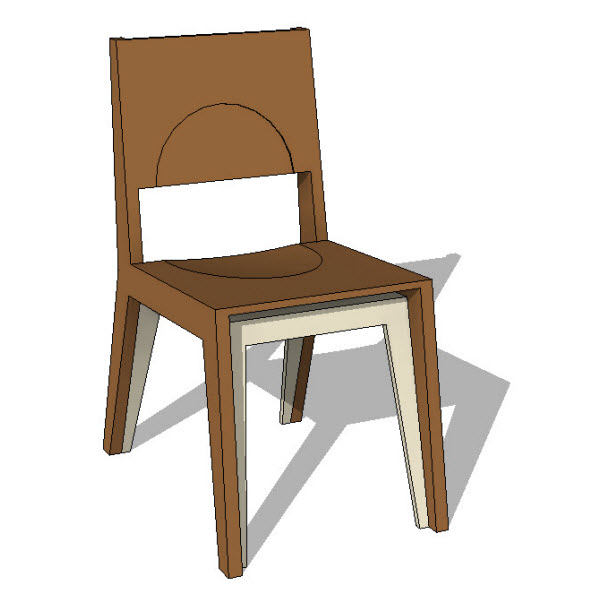Brave Space Design Hollow Dining Chair 10031 2 00