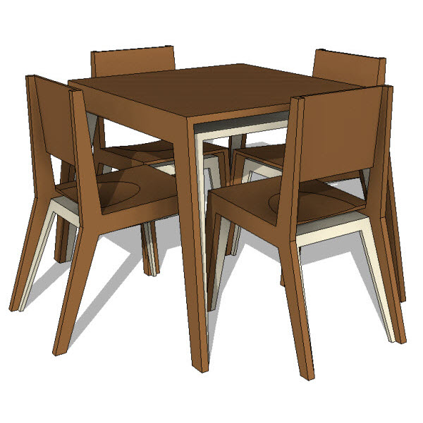 Dining tables revit families modern furniture