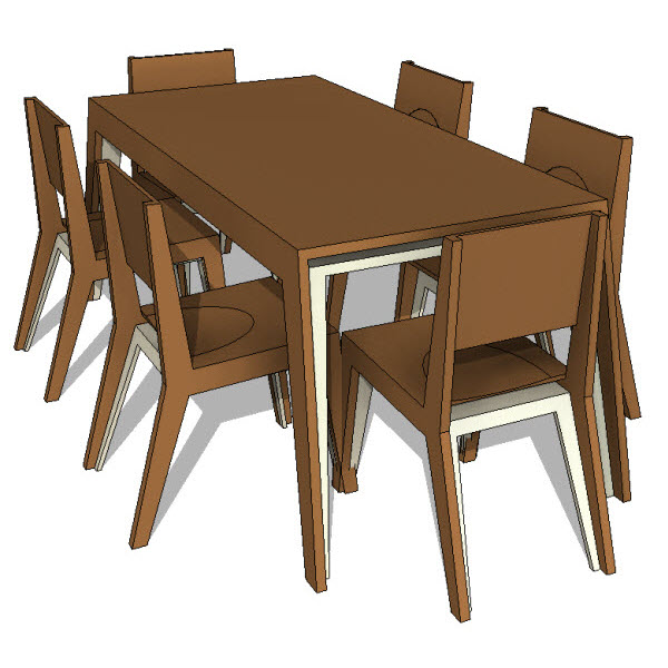 Brave space design hollow dining set 10013 for Best dining tables for families