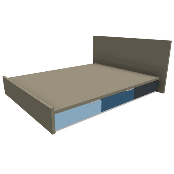 Blu Dot Modu Licious Bed 10373 2 00 Revit Families