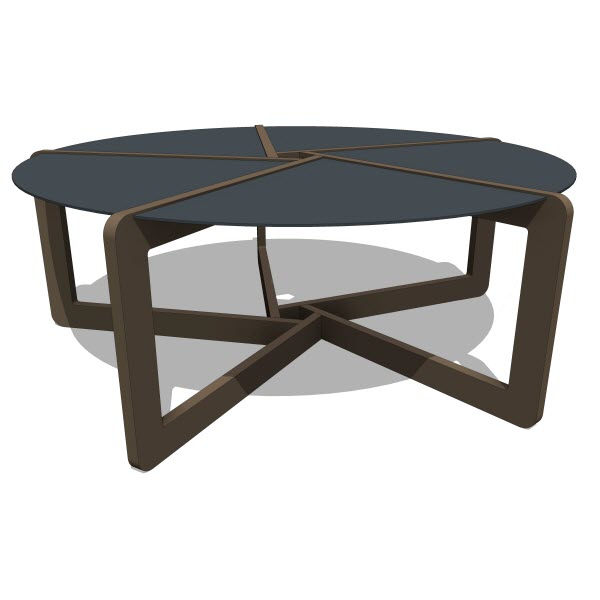 Blu Dot Pi Coffee Table 10223 2 00 Revit Families Modern