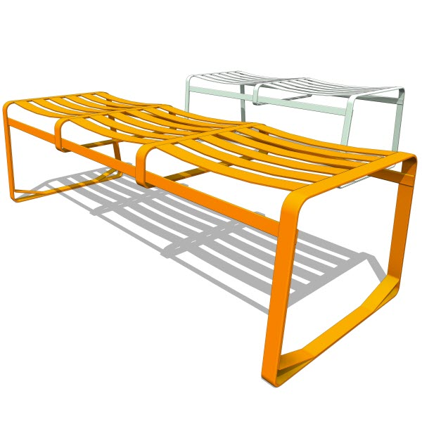 Double Butter Crane Bench