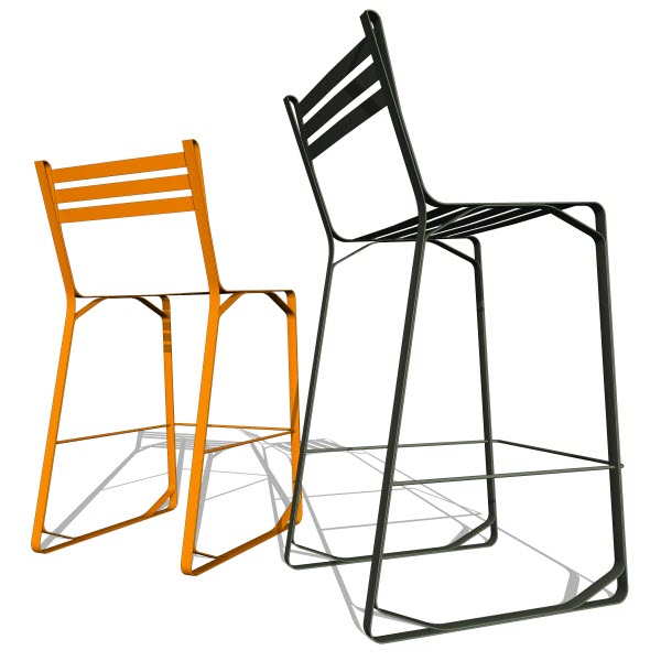 Double Butter Crane Stool