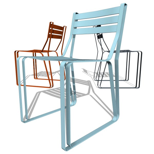 Double Butter Roadrunner Chair - Steel