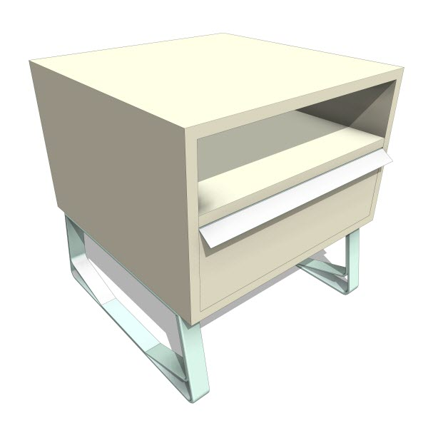 Double butter sheep end table 10361 revit for Sofa table revit