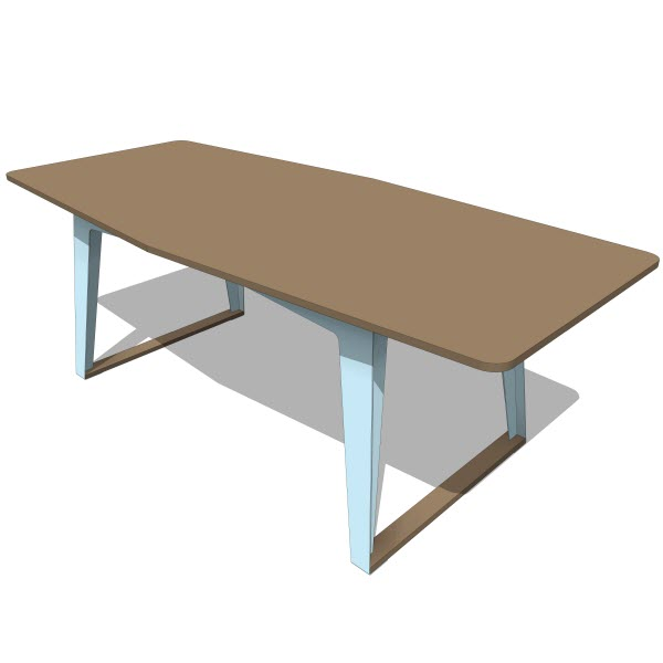 Double Butter Turtle Dining Table