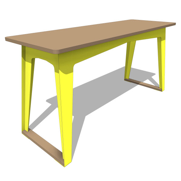 Double Butter Turtle Work Table