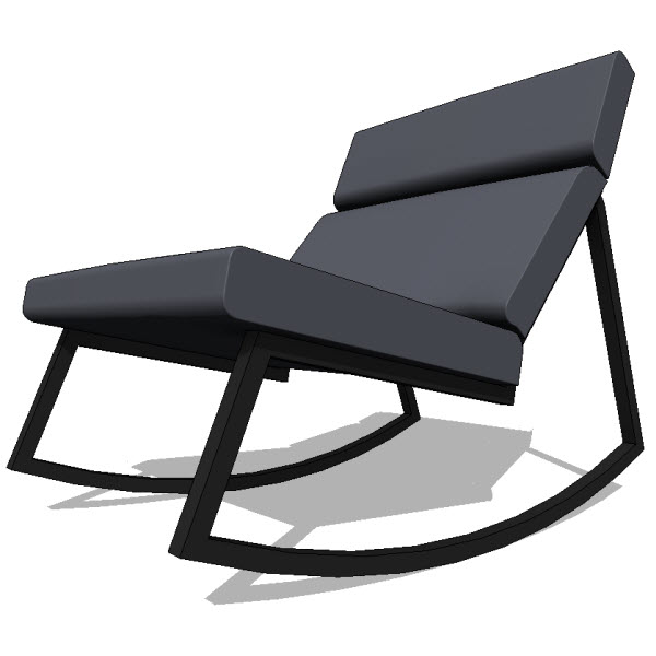 Swell Gus Modern Gt Rocker 10144 2 00 Revit Families Lamtechconsult Wood Chair Design Ideas Lamtechconsultcom