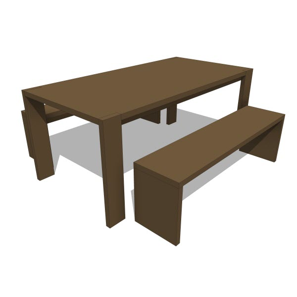 Gus Modern Plank Table & Bench