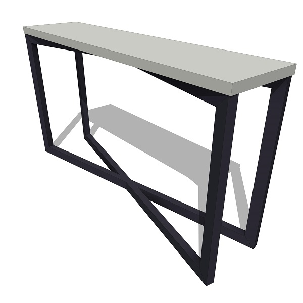 James de wulf gooding console table 10455 for Sofa table revit