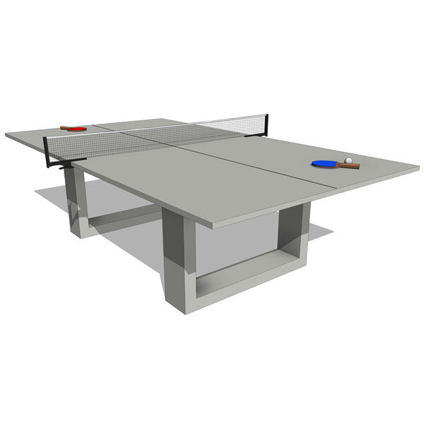James De Wulf Concrete Ping Pong U0026 Dining Table