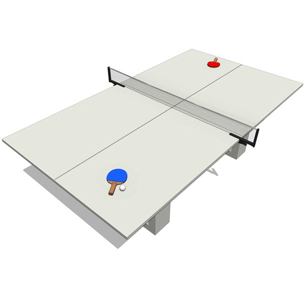 James De Wulf Concrete Ping-pong & Dining Table