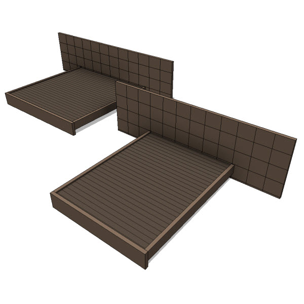 Jh2 carina bed 10085 revit families modern for Outdoor furniture revit