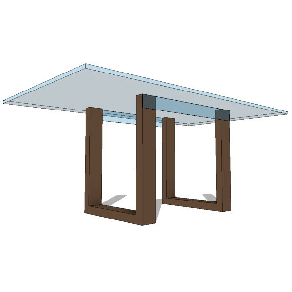 Jh lynx dining table  revit families