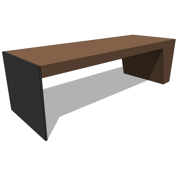 Jh2 maia bench 10101 revit families modern for Outdoor furniture revit