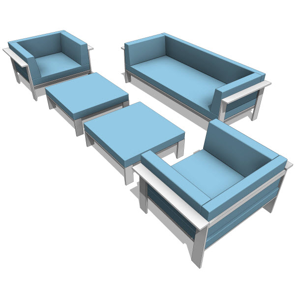 Modern Outdoor Revit Families Furniture