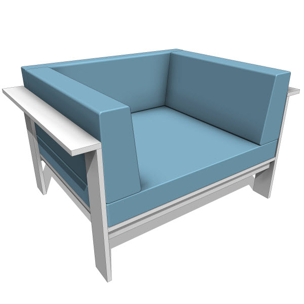 Luma collection sofa chair 10181 revit for Outdoor furniture revit