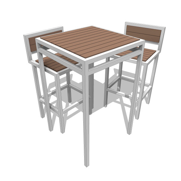 Talt Collection Bar Height Table 10052 2 00 Revit
