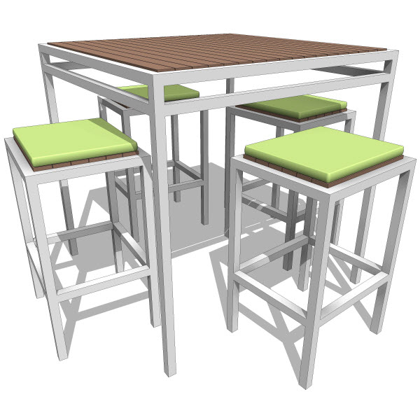 Talt collection bar stool  revit families