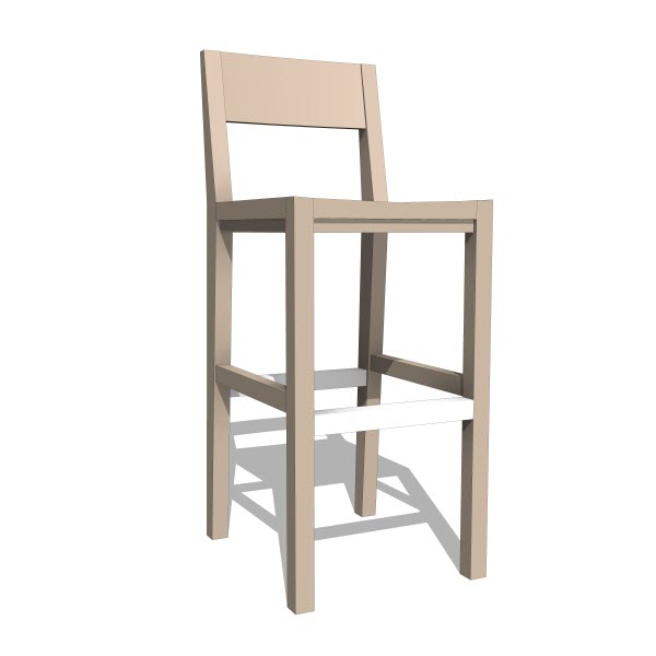 Lax series barstool chair  revit