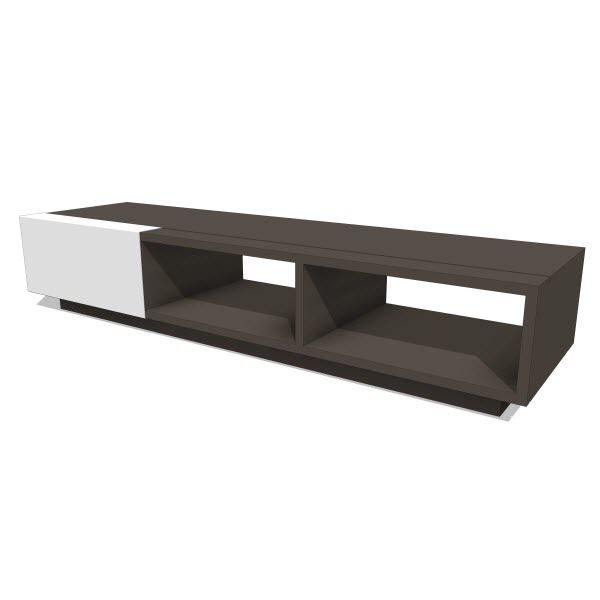 LAX Series Dark Entertainment Shelf