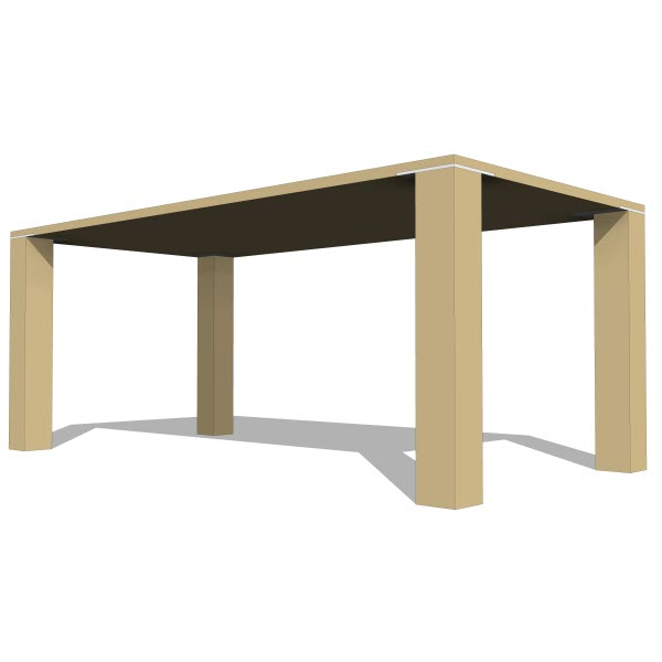 Lax series edge dining square table
