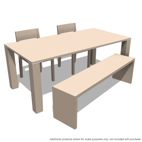 LAX Series Edge Dining & Square Table