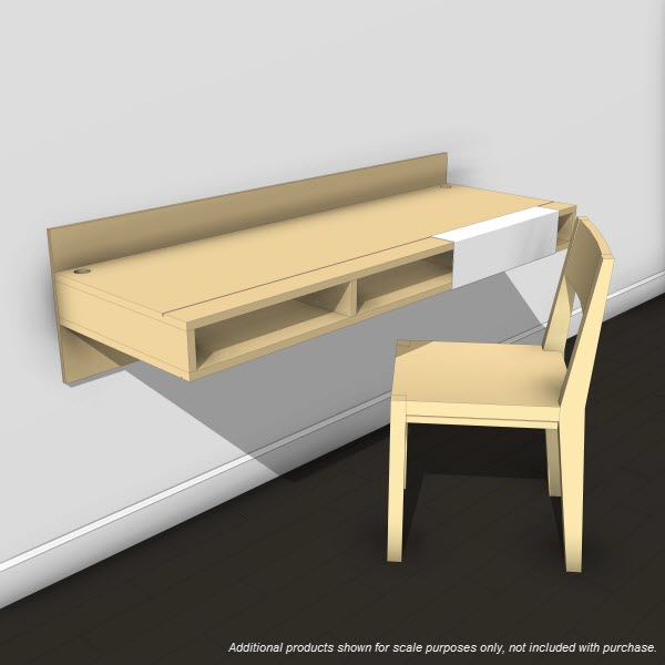 Lax series wall mounted desk 10384 revit for Lax wall mounted desk