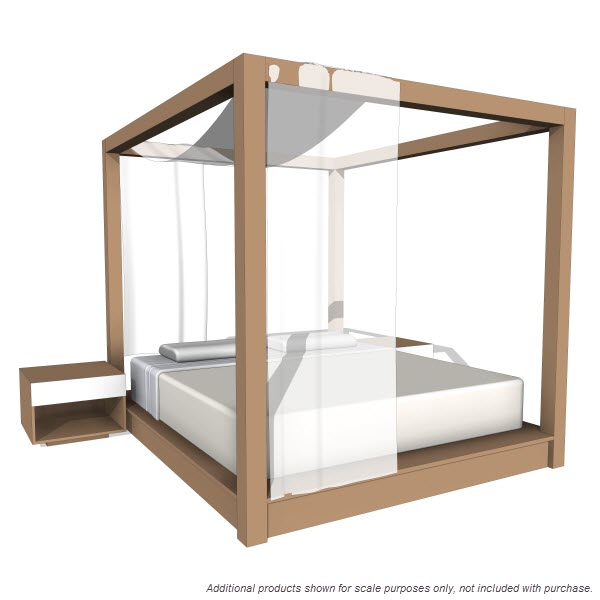 PCH Series Canopy Bed [10394] - $2.00 : Revit families, Modern