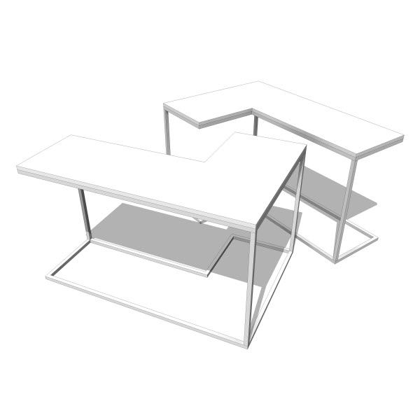 Nobody&Co L Double Table