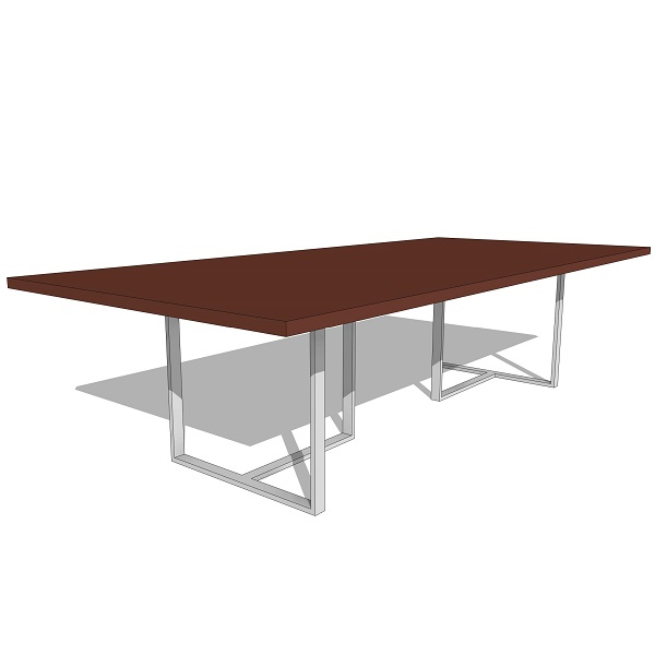 Rotsen Wood & Steel Dining Table