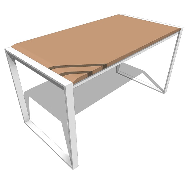 Treeline Beveled Top Work Desk