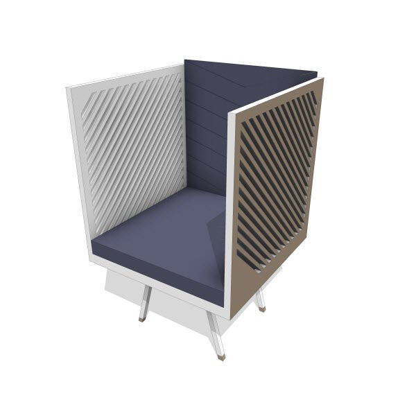 Tcherassi Vilato Box Chair
