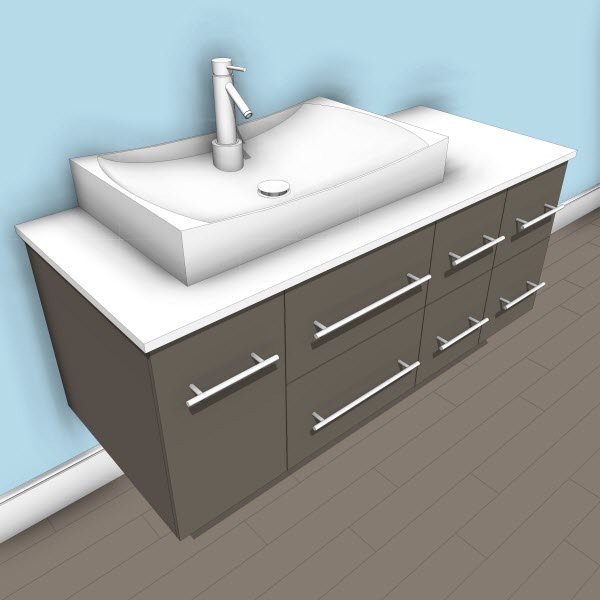 Virtu Ceanna Single Vanity
