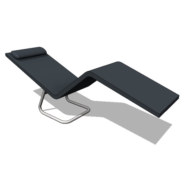 vitra mvs chaise 10076 revit families modern revit furniture models the revit. Black Bedroom Furniture Sets. Home Design Ideas