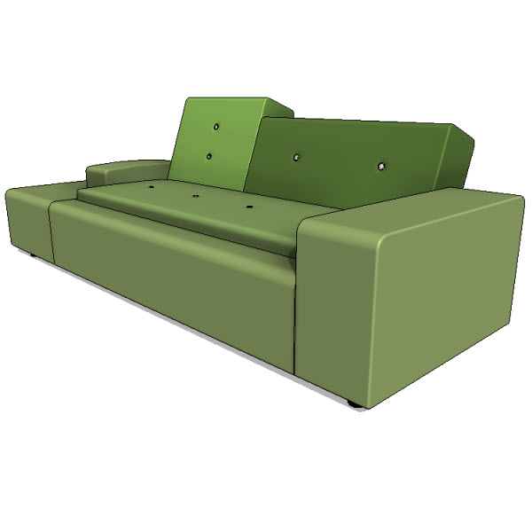 vitra polder sofa xs 10079 revit families modern revit furniture models the revit. Black Bedroom Furniture Sets. Home Design Ideas