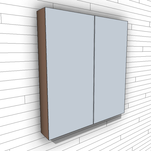 WETSTYLE M Collection Mirrors Surface Mount
